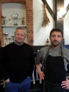 Patrick et Frédéric Bern, chef du restaurant Le Pas de Vent © Greta Garbure