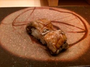 Sushi d'anago (congre) C Greta Garbure