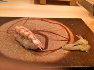 Sushi de langoustine © Greta Garbure