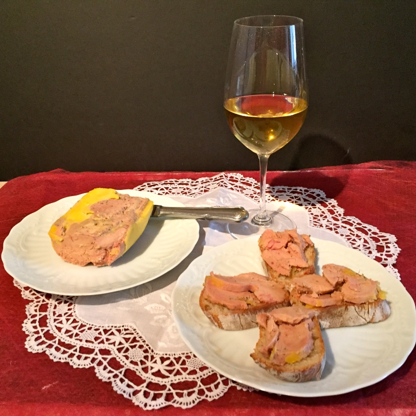 Foie gras et sauternes © Greta Garbure