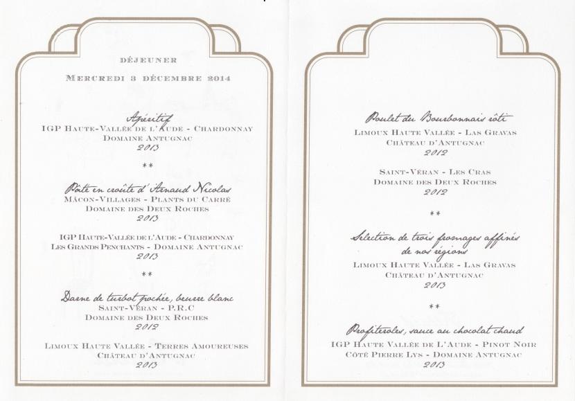 Le menu © Greta Garbure