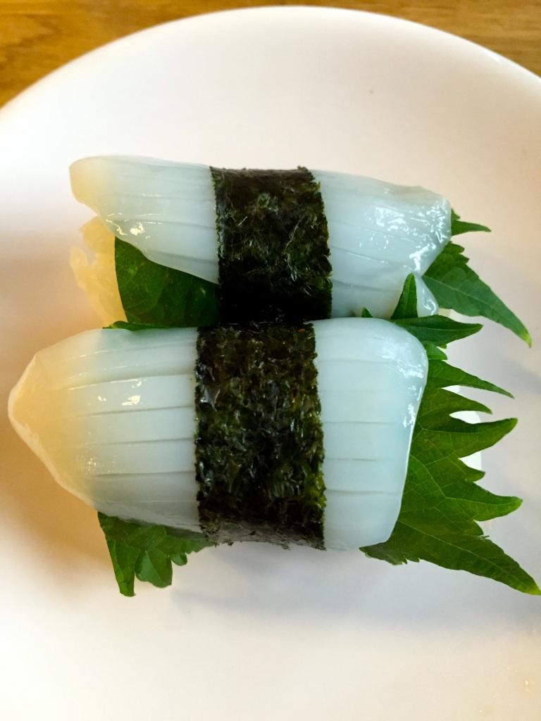Sushi de seiche © Greta Garbure