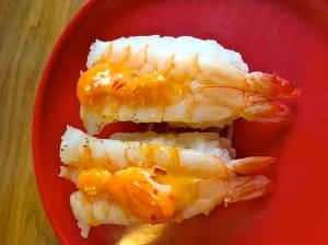 Sushis crevettes © Greta Garbure