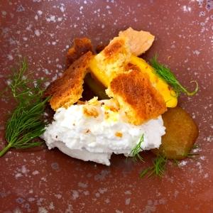 Sorbet orange, brucciu, aneth © Greta Garbure