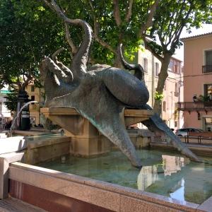 La statue du poulpe à Sète © Greta Garbure