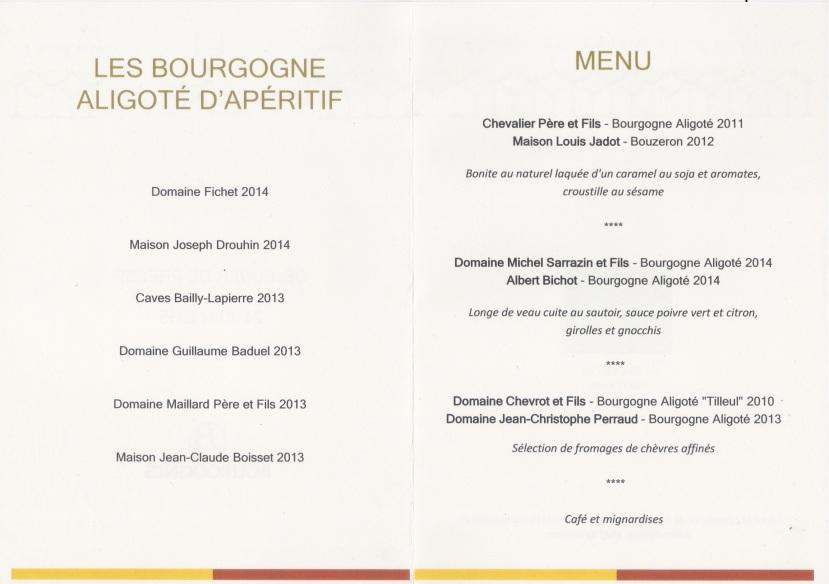 Menu Bourgogne aligoté