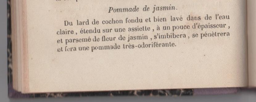 La recette de la pommade de jasmin
