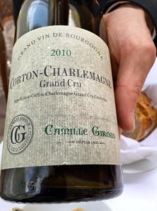 Corton-Charlemagne Grand cru 2010, Camille Giroud © Greta Garbure