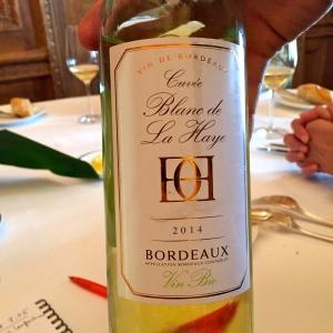 Bordeaux 2014 cuvée Blanc de la Haye © Greta Garbure