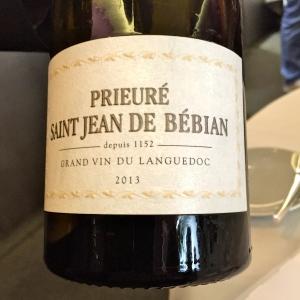 Prieuré Saint Jean de Bébian blanc 2013