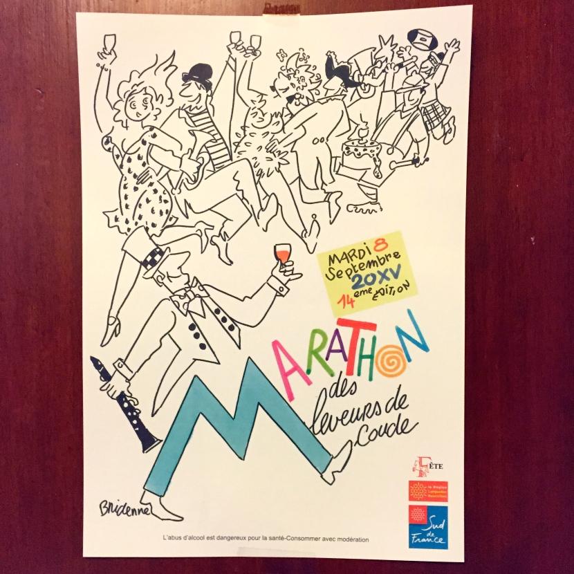 L'affiche du marathon dessinée par Michel Bridenne