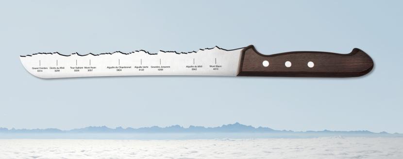 Le couteau universel (Lac Léman - Mont Blanc)