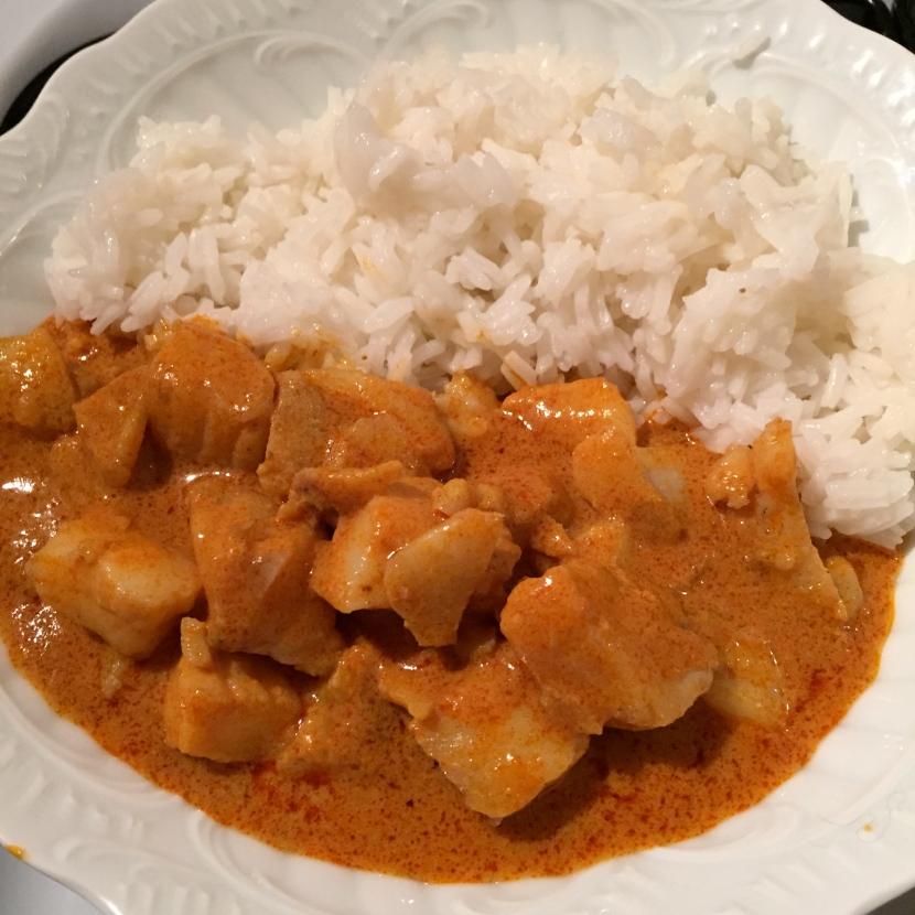 L'assiette de poisson au curry © Greta Garbure
