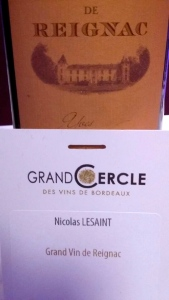 Grand vin de Reignac © Greta Garbure