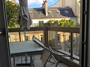 La petite terrasse de la chambre © Greta Garbure