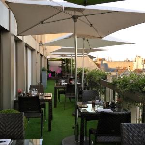La terrasse du restaurant © Greta Garbure