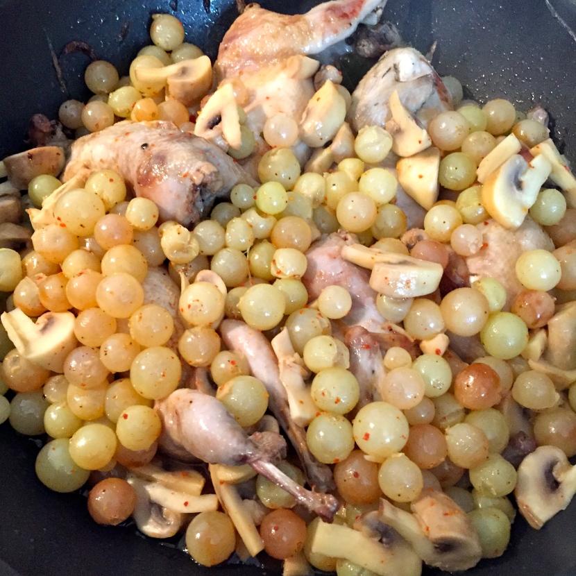 Les cailles aux raisins © Greta Garbure