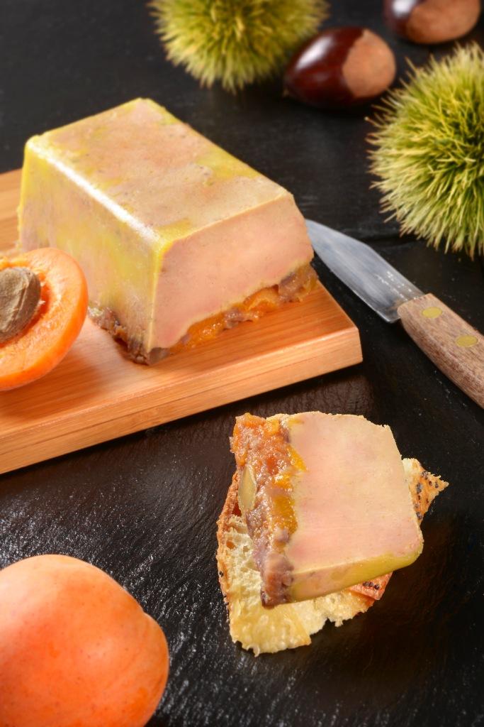 Foie gras d'automne à l'abricot et aux châtaignes Barthouil © D. Nakache