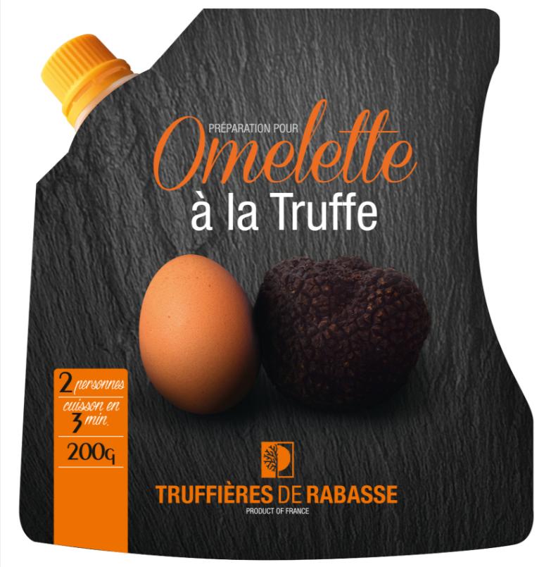 Omelette toute prête à la truffe