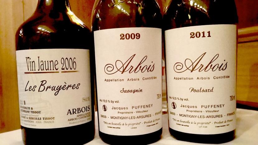 Trois vins du Jura © Greta Garbure