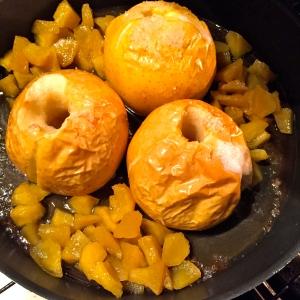 Pommes au four et pommes confites © Greta Garbure