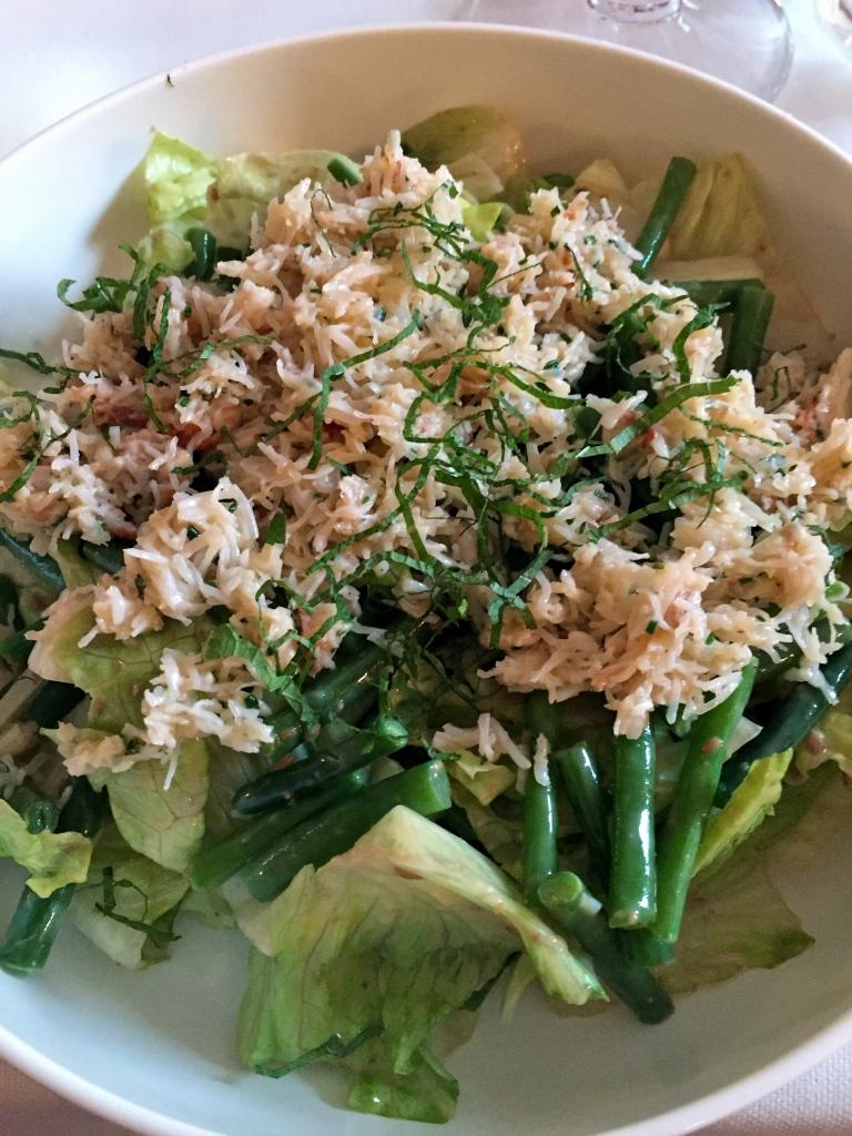 Salade de tourteau aux haricots verts © Greta Garbure