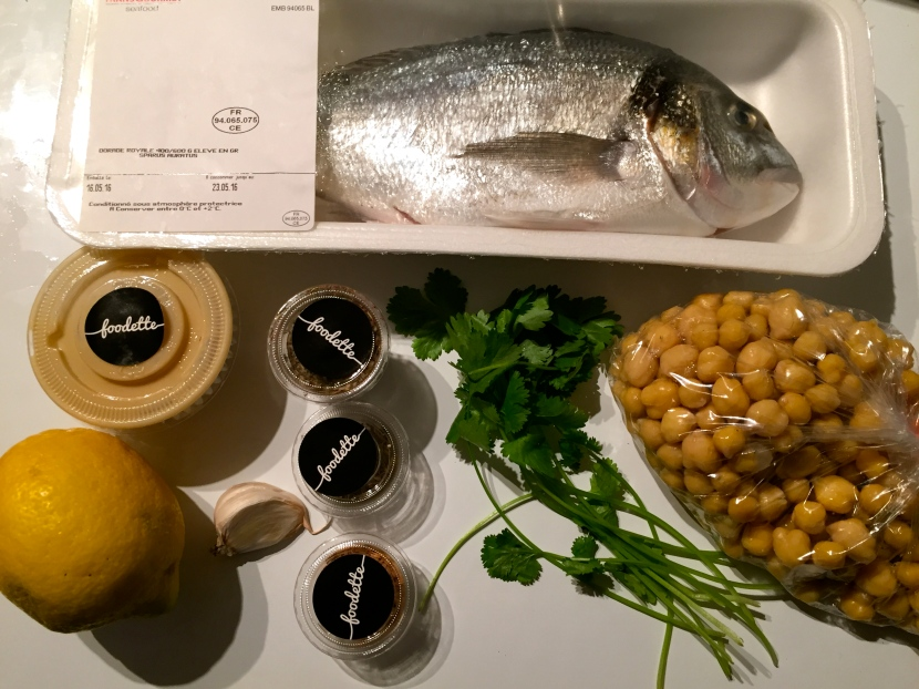 Les ingrédients pour la dorade © Greta Garbure