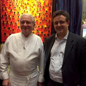 Alain Dutournier et Thomas Leclère, directeur du champagne Chassenay d'Arce © Greta Garbure