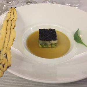 Spéciale d'Arcachon, caviar Ébène, la feuille au goût d'huître © Greta Garbure