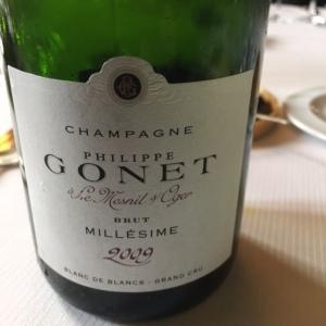 Champagne brut Philippe Gonet 2009 © Greta Garbure