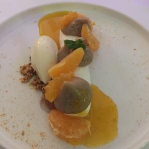 Marron, clémentine, meringue et vanille © Greta Garbure